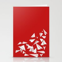 planes Stationery Cards featuring Paper Planes by Becky Gibson