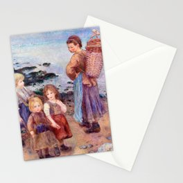 Pierre-Auguste Renoir - Mussel-Fishers at Berneval Stationery Cards