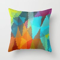 stained glass Throw Pillows featuring Stained Glass  by Latidra Washington