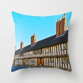 Stratford Upon Avon Timber Frame Houses  Throw Pillow