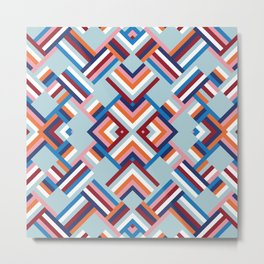 Herringbone Pattern No.2 Metal Print