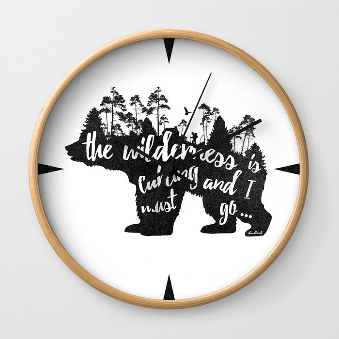 Wild Call - Bear Wall Clock