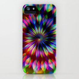 Psychedelic Rainbow Swirl iPhone Case