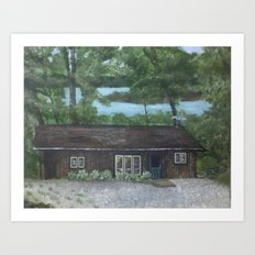 Cabin in the wood Art Print
