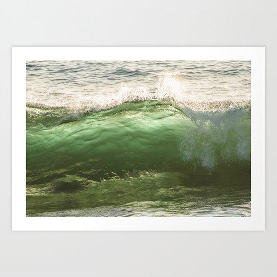 Green light water surf Art Print
