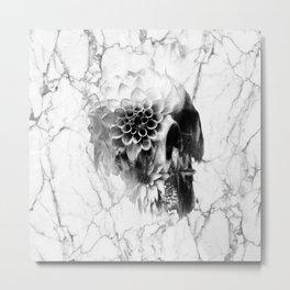 Decay Marble Skull Metal Print