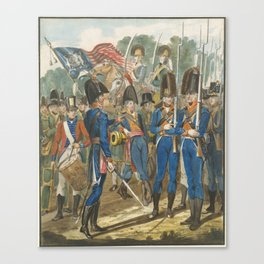 Pavel Petrovich Svinin, (1787 –1839), Members of the City Troop and Other Philadelphia Soldiery Canvas Print