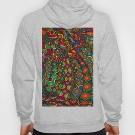 African Style No13, Tribal dance Hoody