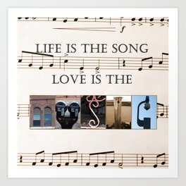 Love of Music Art Print