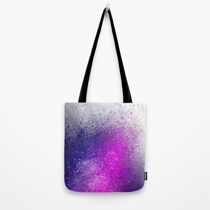 Hot Pink and Purple Paint Splatter Tote Bag