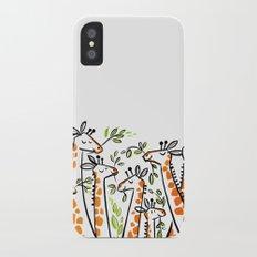 Giraffe Banquet iPhone X Slim Case