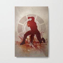 I Am Iron Man Metal Print