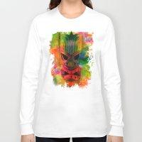karu kara Long Sleeve T-shirts featuring Tiki Kara by Ionic Slasher