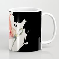 floyd Mugs featuring Pink Floyd 's Flower  by Blaz Rojs