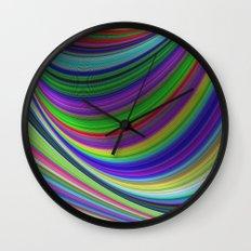 Color curves Wall Clock