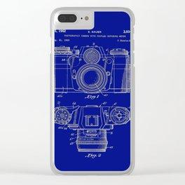 Vintage Camera Patent Blueprint Clear iPhone Case