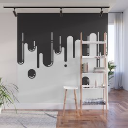 Melting black stuff Wall Mural