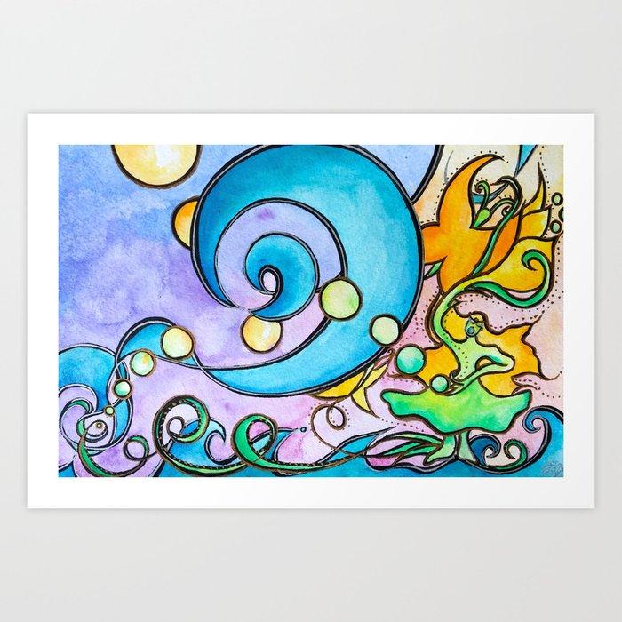 She Sang the Sea Art Print