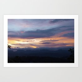 Sunrise in New Zealand Art Print