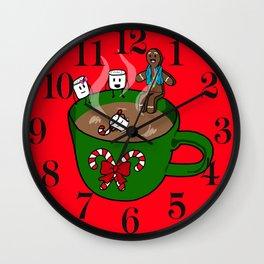 Relaxing Hot Cocoa Wall Clock