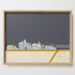 """City on a """"Plate"""" (Dusk) Serving Tray"""