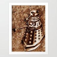 dalek Art Prints featuring Dalek by Redeemed Ink by - Kagan Masters