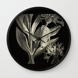 carved leaves Wall Clock