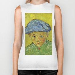 """Vincent van Gogh """"Portrait of Camille Roulin"""" Biker Tank"""