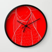 iron giant Wall Clocks featuring Giant by Vasco Vicente