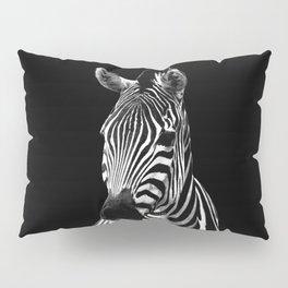 Zebra Black Pillow Sham