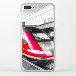 Virgin Train Kings Cross Station Clear iPhone Case