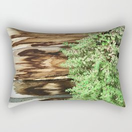 Leaves Cascading Down Rustic Wood Planter Rectangular Pillow