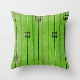 Vintage woodblock print of Japanese textile from Shima-Shima (1904) by Furuya Korin 125 Throw Pillow