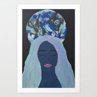 sandra dieckmann Art Prints featuring Sweet Sandra  by Dannette J
