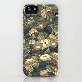 Fast food camouflage iPhone Case