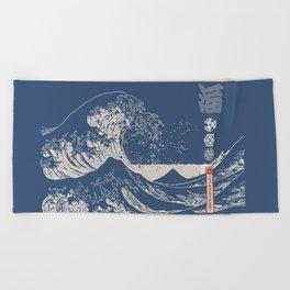 Hokusai - Big Wave of Kinagawa Beach Towel