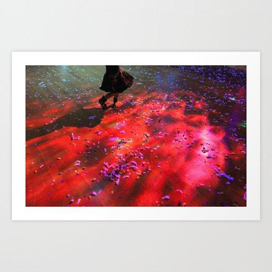dancing floor Art Print