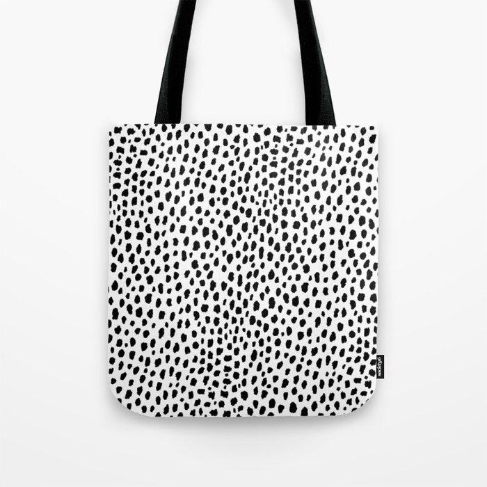Dalmatian Spots (black/white) Tote Bag