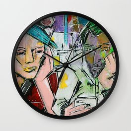Hashtag A Night Out with Friends Wall Clock