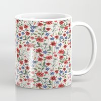 poppies Mugs featuring Poppies by moniquilla
