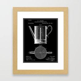 Coffee Press Patent - Black Framed Art Print
