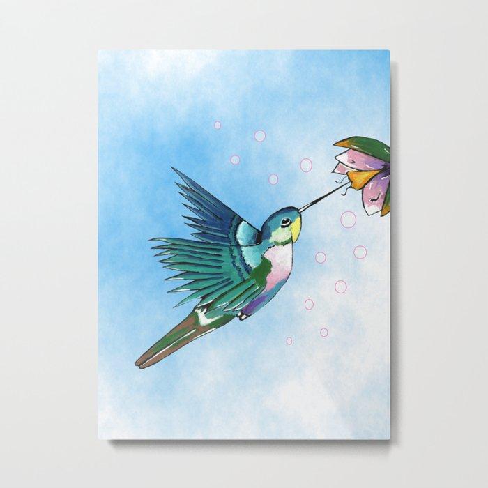 Hummingbird Flutter Metal Print