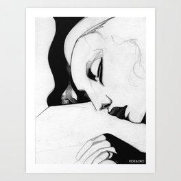 Sleeping Girl Art Print