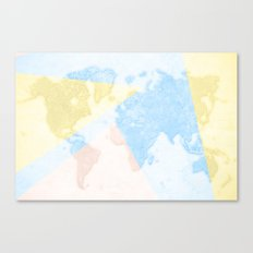 World Map Light Canvas Print