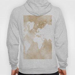 Design 82 world map sepia Hoody