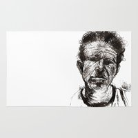 tom waits Area & Throw Rugs featuring Tom Waits Bad As Me  by b_ethany
