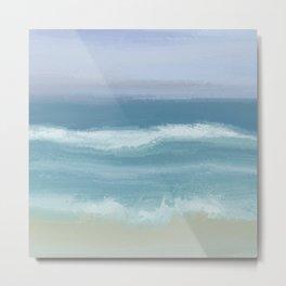 Seashore With Beautiful Breaking Waves Metal Print
