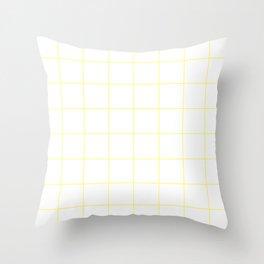 Graph Paper (Light Yellow & White Pattern) Throw Pillow