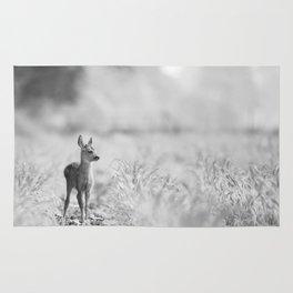 Baby Deer (Black and White) Rug