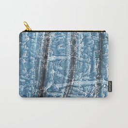 Black Blue colored wash drawing texture Carry-All Pouch